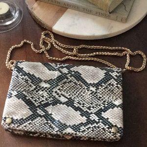 Aldo faux snakeskin purse